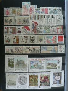 CZECHOSLOVAKIA - complete year 1981 + 5 sheets   unused MNH**
