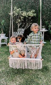 Twin Baby Handwoven Hammock | Double Macramé Swing Handmade Chair