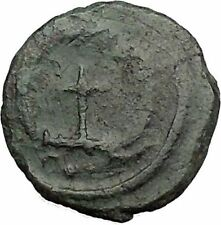 THEODOSIUS II 425AD  Ancient Roman Coin Cross within wreath of success  i32880
