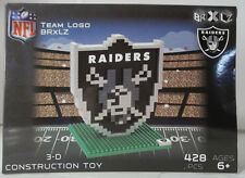 Oakland Raiders BRXLZ Team Logo 3D Toy PUZZLE 408 Pcs SET NFL Ages 12+ GIFT