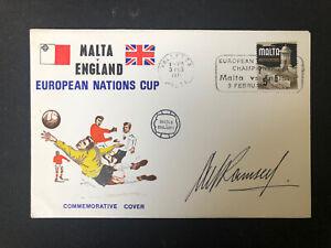 Alf Ramsey Signed Malta V England Commemorative Cover