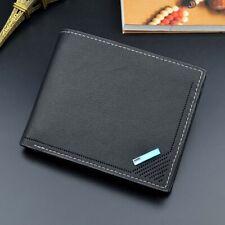 Men's PU Leather Slim Bifold ID Card Holder Purse Wallet Billfold Handbag Clutch