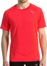 Puma DryCELL Cool Mens Graphic T-Shirt Red Short Sleeve Top Gym Running Training