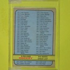 CHECKLIST 1972-73 UNMARKED  (has creasing selling cheap, Great set Filler) #190