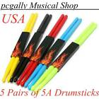5 Pairs of 5A Nylon Drum Sticks Personalised Plastic Durable 5 Colors Drumsticks