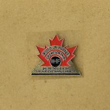 1991 World Junior Hockey Championships Saskatchewan Canada Official Pin Old