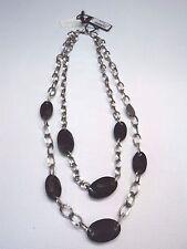 Collana Nomination in acciaio con elementi swarovski neri