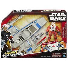 NEW STAR WARS THE FORCE AWAKENS HERO MASHERS RESISTANCE X-WING & PILOT B3702