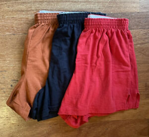 Soffe Athletic Shorts Lot of 3 Junior Knit Elastic Waist Pull On Yoga Cheer Med.