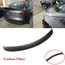 Fit For Tesla Model 3 16-18 T Style Rear Trunk Spoiler Wing Carbon Fiber Refit