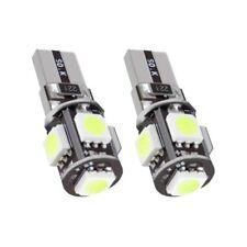 2x Bombillas LED para Coche T10 5 SMD W5W Canbus color Blanco Planas