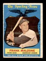 1959 Topps Set Break # 558 Frank Malzone All Star LOW GRADE *OBGcards*