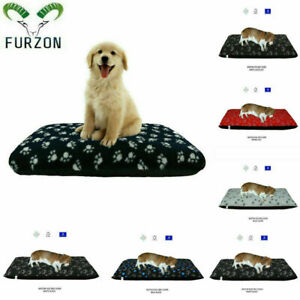 Large & Medium Dog Bed Removable Zipped Poly Cotton Bed Mattress Cushion Cover