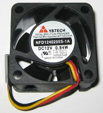 Y.S. Tech 40 mm x 20 mm Cooling Fan - 12 V - 6 CFM - 5000 RPM - 3 Pin Connector