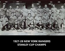 NEW YORK RANGERS 1927-28 TEAM NY 8X10 PHOTO HOCKEY PICTURE STANLEY CUP CHAMPIONS