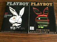 Playboy Magazine 35th and 40th Anniversary Collector`s Editions 1989 &1984