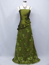 Cherlone Green Ballgown Bridesmaid Formal Wedding/Evening Full Length Dress 14