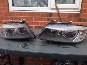 Genuine BMW LCI ANGEL EYE HEADLIGHTS HEADLAMPS LAMPS 3 Series E90 E91 *PAIR*