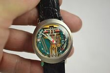 1971 BULOVA ACCUTRON 214 SPACEVIEW TUNING FORK MENS WATCH N1 - RUNNING