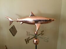 Good Directions Shark Polished Copper Weathervane - 965P w/Roof Mount