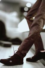 1/3 SD BJD Shoes Black Lightning Spliced Leather Shoes Black AOD DOD DZ Handsome