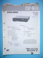 Service Manual-Anleitung für Sony CDP-M70  ,ORIGINAL