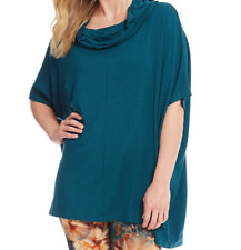 Bryn Walker Sz S Cowl Neck Uccello Green Poncho French Terry Poncho Top Shirt