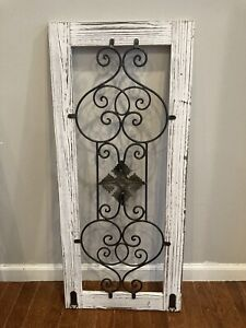 Home Decor Wood And Metal White Rectangle  Wall Decor