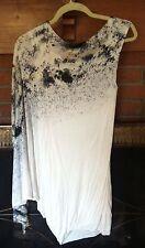 Twelth St Cynthia Vincent Dramatic Sleeve Mini Dress, Small, White Multi ~ NWT