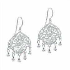 925 Silver Vintage Filigree Chandelier Earrings