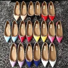MW009712 - FASHION STUDDED POINTED TOE BALLET FLATS (SIZE 34 - 40)