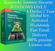 KASPERSKY INTERNET SECURITY 2020 - 1 DEVICE  2 YEAR  GLOBAL KEY FOR WINDOWS