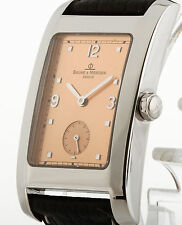 Baume & Mercier Hampton Quarz Stahl an Lederband Ref. MV045063