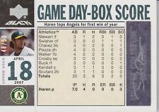 DAN HAREN 2007 UD Black Game Day Box Score Autograph #48/50 #DH  (C2082)