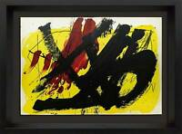 Antoni TAPIES Lithograph ORIGINAL LIMITED Ed. no.83 Double Color Lithograph