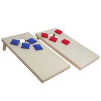 Wooden Cornhole Bean Bag Toss Game Set Lawn Backyard Regulation Size 4 x 2FT