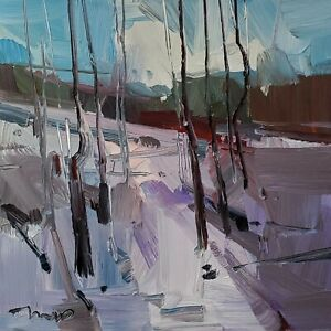 JOSE TRUJILLO Oil Painting IMPRESSIONISM MODERN COLLECTIBLE 12X12 LANDSCAPE