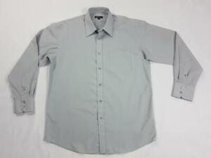 "Men's Cedar Wood State Male Long Sleeves Front Pocket Buttons Shirt Grey UK 16"""