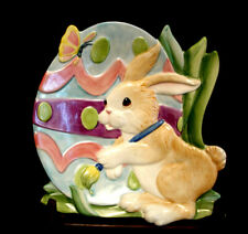 """Painting Easter Eggs by Fitz & Floyd Canape Plate 9"""""""
