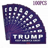 100PCS Donald Trump For President 2020 Bumper Sticker Keep Make America Great LN