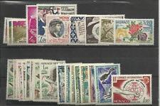 Monaco Année complète 1962 YT 571/98 oiseaux birds .....