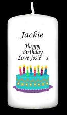 Personalizzato torta di compleanno & Palloncini Candela Regalo Ricordo 18 21 30 40