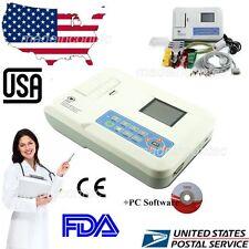 CONTEC ECG/EKG Machine 3 Channel 12 Leads Software Colour LCD,PC Software US FDA
