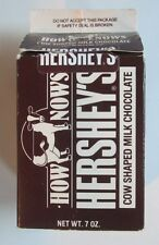 HERSHEY'S HOW NOWS COW-SHAPED CHOCOLATE EMPTY MILK CARTON RARE!