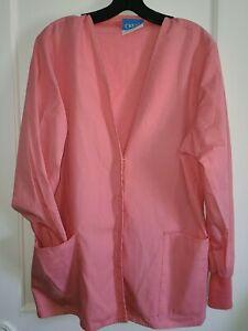 Womans Scrub Lab Coat Size S Pink