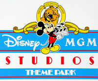 Vintage Disney MGM Studios Theme Park Vinyl Coated Paper Sign