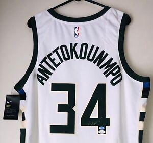 Giannis Antetokounmpo Autographed Bucks Authentic Nike Swingman Jersey Auto JSA