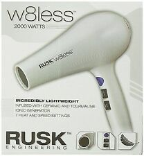 Rusk W8less Professional Lightweight Ceramic Tourmaline Hair Dryer 2000 White