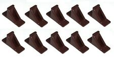 Brown Plastic Mini Roof Snow Ice Guard-10 PK | Prevent Sliding Snow Stop Buildup