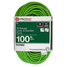 UTILITECH 100-FT 10-AMP 125-VOLT 16-GAUGE LIME GREEN OUTDOOR EXTENSION CORD